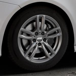 ATS Evolution dark-grey Felge mit Reifen grau in 17Zoll Winterfelge Alufelge auf silbernem Audi A7 Typ 4G (Sportback) Facelift ⬇️ mit 15mm Tieferlegung ⬇️ Industriehalle 1 Thumbnail