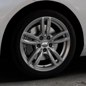 ATS Evolution dark-grey Felge mit Reifen grau in 17Zoll Winterfelge Alufelge auf silbernem BMW 214d Typ F2AT (F45 Active Tourer) 216d 216i 218d 218i 220d xDrive 220i 225i 225xe ⬇️ mit 15mm Tieferlegung ⬇️ Industriehalle 1 Thumbnail