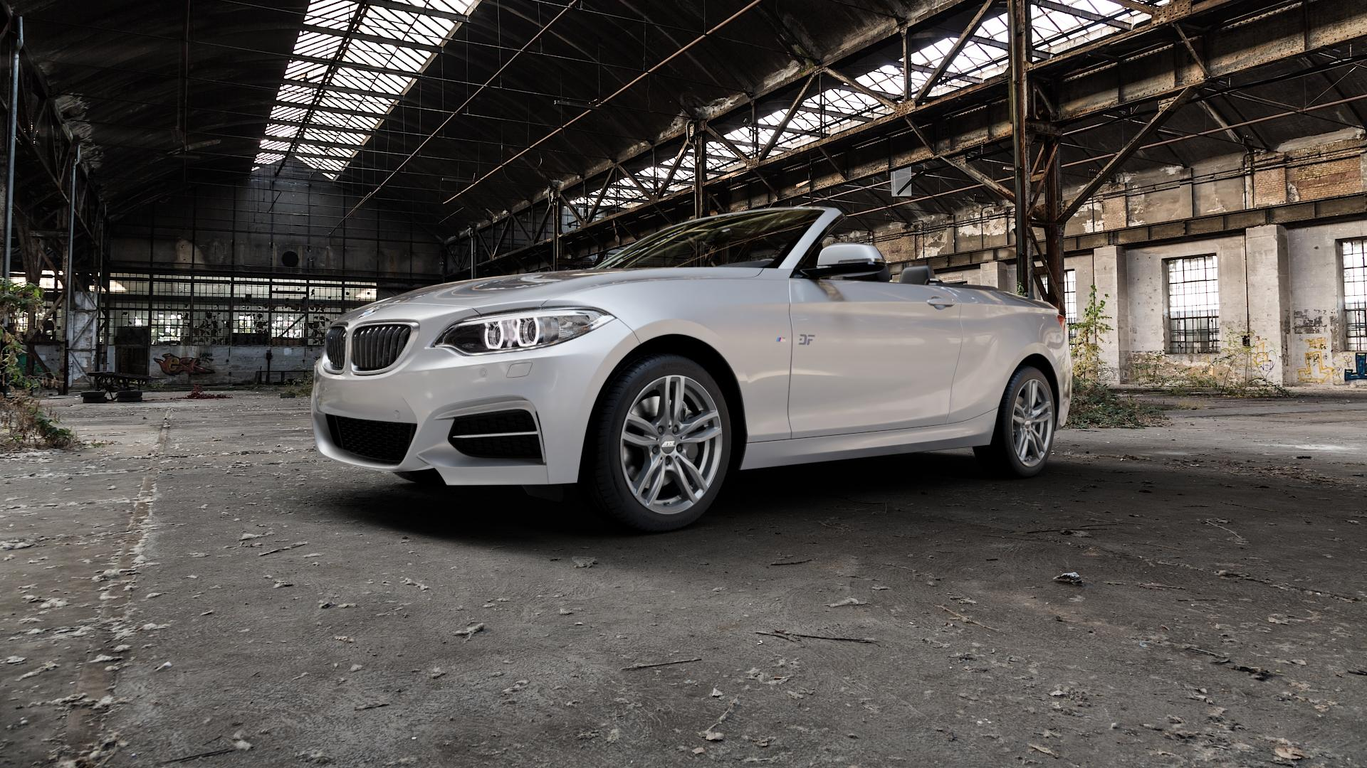 ATS Evolution dark-grey Felge mit Reifen grau in 17Zoll Winterfelge Alufelge auf silbernem BMW 220d Typ F23 (Cabrio) 2,0l 140kW (190 PS) 220i 135kW (184 228i 180kW (245 2 M235i 3,0l 240kW (326 218i 1,5l 100kW (136 xDrive 225d 165kW (224 218d 110kW (150 M240i 250kW (340 230i 185kW (252 120kW (163 151kW (205 ⬇️ mit 15mm Tieferlegung