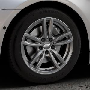 ATS Evolution dark-grey Felge mit Reifen grau in 17Zoll Winterfelge Alufelge auf silbernem BMW 640i Typ F13 (Coupe) 650i 640d xDrive ⬇️ mit 15mm Tieferlegung ⬇️ Industriehalle 1 Thumbnail