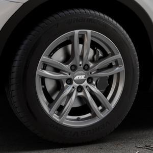 ATS Evolution dark-grey Felge mit Reifen grau in 17Zoll Winterfelge Alufelge auf silbernem BMW X3 Typ F25 (X3, X-N1) ⬇️ mit 15mm Tieferlegung ⬇️ Industriehalle 1 Thumbnail