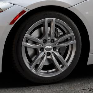 ATS Evolution dark-grey Felge mit Reifen grau in 17Zoll Winterfelge Alufelge auf silbernem BMW Z4 Roadster Typ E89 (Z89, ZR) ⬇️ mit 15mm Tieferlegung ⬇️ Industriehalle 1 Thumbnail