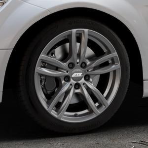 ATS Evolution dark-grey Felge mit Reifen grau in 17Zoll Winterfelge Alufelge auf silbernem Mercedes C-Klasse Typ W204 Limousine ⬇️ mit 15mm Tieferlegung ⬇️ Industriehalle 1 Thumbnail