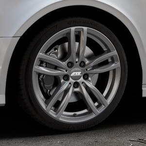 ATS Evolution dark-grey Felge mit Reifen grau in 18Zoll Winterfelge Alufelge auf silbernem Audi A3 Typ 8V (Limousine) Facelift ⬇️ mit 15mm Tieferlegung ⬇️ Industriehalle 1 Thumbnail