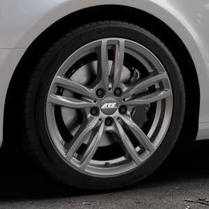 ATS Evolution dark-grey Felge mit Reifen grau in 18Zoll Winterfelge Alufelge auf silbernem Audi A4 Typ 8K2/B8 (Limousine) ⬇️ mit 15mm Tieferlegung ⬇️ Industriehalle 1 Thumbnail