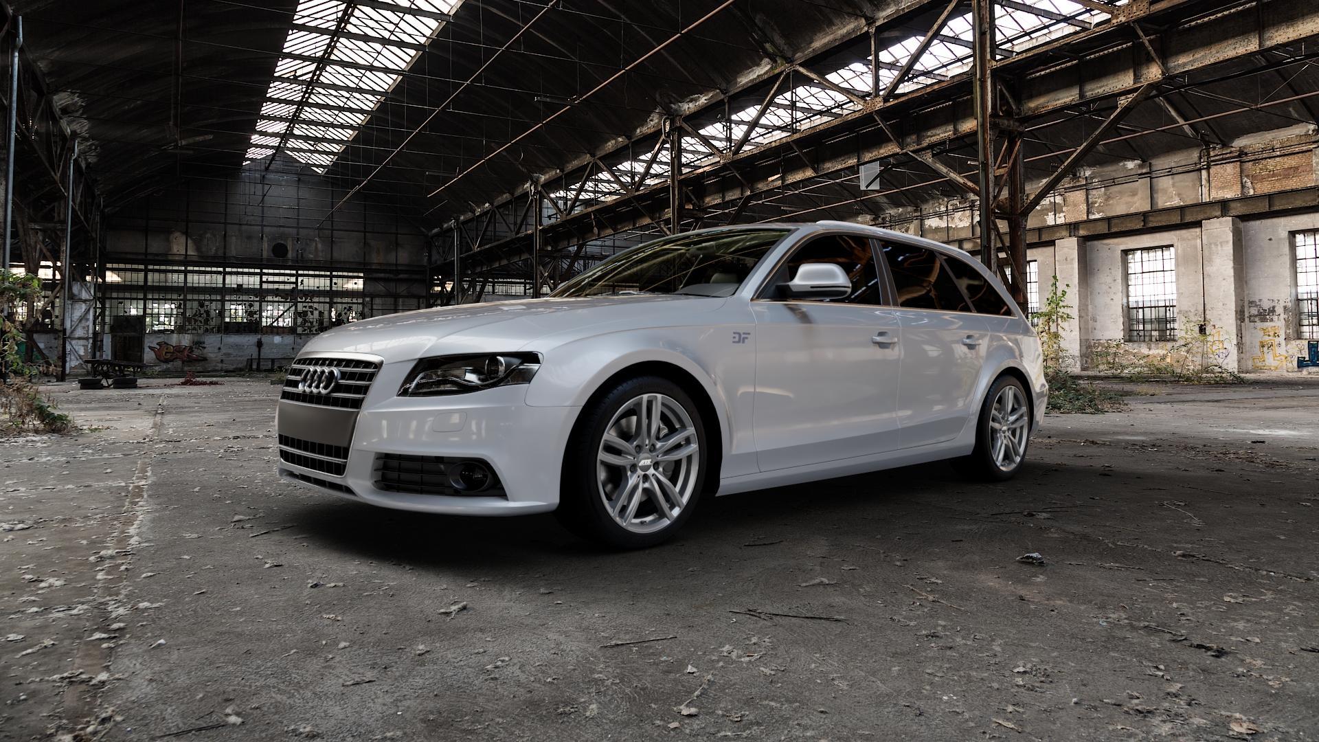 ATS Evolution dark-grey Felge mit Reifen grau in 18Zoll Winterfelge Alufelge auf silbernem Audi A4 Typ 8K5/B8 (Avant) ⬇️ mit 15mm Tieferlegung ⬇️ Industriehalle 1 Camera_000