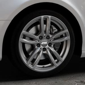 ATS Evolution dark-grey Felge mit Reifen grau in 18Zoll Winterfelge Alufelge auf silbernem Audi A4 Typ 8K5/B8 (Avant) ⬇️ mit 15mm Tieferlegung ⬇️ Industriehalle 1 Thumbnail