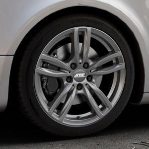 ATS Evolution dark-grey Felge mit Reifen grau in 18Zoll Winterfelge Alufelge auf silbernem Audi A5 Typ B8 (Sportback) ⬇️ mit 15mm Tieferlegung ⬇️ Industriehalle 1 Thumbnail