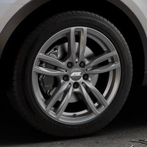ATS Evolution dark-grey Felge mit Reifen grau in 18Zoll Winterfelge Alufelge auf silbernem Audi Q3 I Typ 8U Facelift ⬇️ mit 15mm Tieferlegung ⬇️ Industriehalle 1 Thumbnail