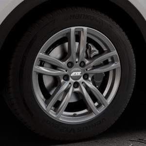 ATS Evolution dark-grey Felge mit Reifen grau in 18Zoll Winterfelge Alufelge auf silbernem Audi Q5 II Typ FY ⬇️ mit 15mm Tieferlegung ⬇️ Industriehalle 1 Thumbnail