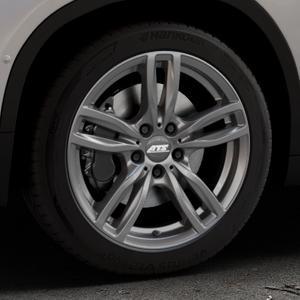 ATS Evolution dark-grey Felge mit Reifen grau in 18Zoll Winterfelge Alufelge auf silbernem BMW X2 Typ F39 (F2X) ⬇️ mit 15mm Tieferlegung ⬇️ Industriehalle 1 Thumbnail