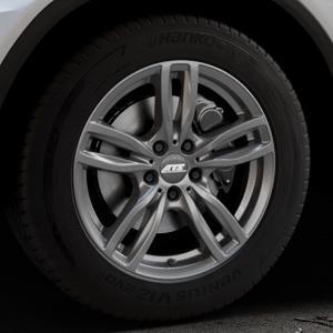 ATS Evolution dark-grey Felge mit Reifen grau in 18Zoll Winterfelge Alufelge auf silbernem Mercedes GLC-Klasse Typ X253 ⬇️ mit 15mm Tieferlegung ⬇️ Industriehalle 1 Thumbnail