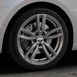 ATS Evolution dark-grey Felge mit Reifen grau in 18Zoll Winterfelge Alufelge auf silbernem Skoda Octavia III Kombi Typ 5E ⬇️ mit 15mm Tieferlegung ⬇️ Industriehalle 1 Thumbnail