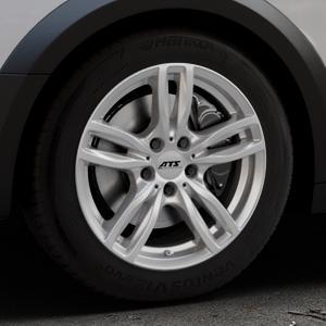 ATS Evolution polar-silber Felge mit Reifen in 17Zoll Winterfelge Alufelge auf silbernem Audi A4 Typ B9 Allroad ⬇️ mit 15mm Tieferlegung ⬇️ Industriehalle 1 Thumbnail