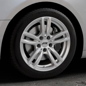 ATS Evolution polar-silber Felge mit Reifen in 17Zoll Winterfelge Alufelge auf silbernem Audi A5 Typ B9 (Coupé) (Cabriolet) ⬇️ mit 15mm Tieferlegung ⬇️ Industriehalle 1 Thumbnail