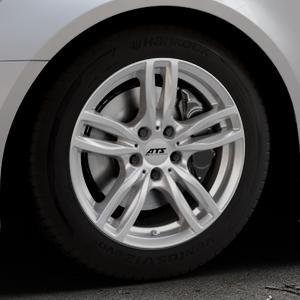 ATS Evolution polar-silber Felge mit Reifen in 17Zoll Winterfelge Alufelge auf silbernem Audi A6 Typ 4G/C7 (Avant) Facelift ⬇️ mit 15mm Tieferlegung ⬇️ Industriehalle 1 Thumbnail
