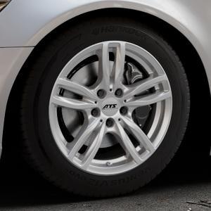 ATS Evolution polar-silber Felge mit Reifen in 17Zoll Winterfelge Alufelge auf silbernem Audi A6 Typ 4G/C7 (Limousine) ⬇️ mit 15mm Tieferlegung ⬇️ Industriehalle 1 Thumbnail