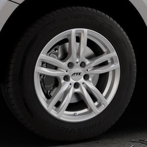 ATS Evolution polar-silber Felge mit Reifen in 17Zoll Winterfelge Alufelge auf silbernem Audi Q5 I Typ 8R ⬇️ mit 15mm Tieferlegung ⬇️ Industriehalle 1 Thumbnail