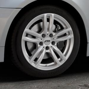ATS Evolution polar-silber Felge mit Reifen in 17Zoll Winterfelge Alufelge auf silbernem BMW 520i Typ E60 (Limousine) 525i 530i 530d 525d 535d 545i 523i 540i 550i 520d 525xd 530xd 530xi 525xi ⬇️ mit 15mm Tieferlegung ⬇️ Industriehalle 1 Thumbnail