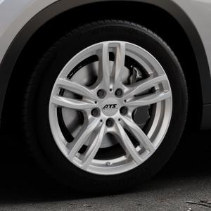 ATS Evolution polar-silber Felge mit Reifen in 17Zoll Winterfelge Alufelge auf silbernem BMW X1 Typ E84 (X1, X-N1, X1-N1) ⬇️ mit 15mm Tieferlegung ⬇️ Industriehalle 1 Thumbnail