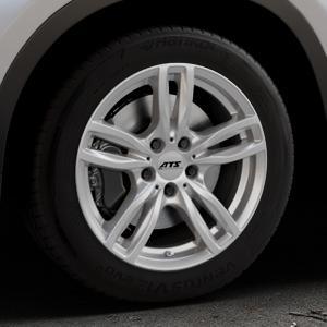 ATS Evolution polar-silber Felge mit Reifen in 17Zoll Winterfelge Alufelge auf silbernem BMW X1 Typ F48 (UKL-L) (F1X) ⬇️ mit 15mm Tieferlegung ⬇️ Industriehalle 1 Thumbnail