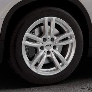 ATS Evolution polar-silber Felge mit Reifen in 17Zoll Winterfelge Alufelge auf silbernem BMW X2 Typ F39 (F2X) ⬇️ mit 15mm Tieferlegung ⬇️ Industriehalle 1 Thumbnail