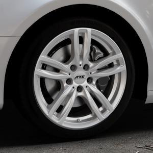 ATS Evolution polar-silber Felge mit Reifen in 18Zoll Winterfelge Alufelge auf silbernem Audi A4 Typ 8K5/B8 (Avant) ⬇️ mit 15mm Tieferlegung ⬇️ Industriehalle 1 Thumbnail