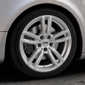 ATS Evolution polar-silber Felge mit Reifen in 18Zoll Winterfelge Alufelge auf silbernem Audi A5 Typ B8 (Sportback) ⬇️ mit 15mm Tieferlegung ⬇️ Industriehalle 1 Thumbnail