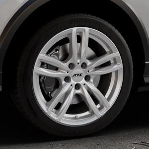 ATS Evolution polar-silber Felge mit Reifen in 18Zoll Winterfelge Alufelge auf silbernem Audi Q2 Typ GA ⬇️ mit 15mm Tieferlegung ⬇️ Industriehalle 1 Thumbnail