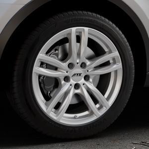 ATS Evolution polar-silber Felge mit Reifen in 18Zoll Winterfelge Alufelge auf silbernem Audi Q3 I Typ 8U Facelift ⬇️ mit 15mm Tieferlegung ⬇️ Industriehalle 1 Thumbnail
