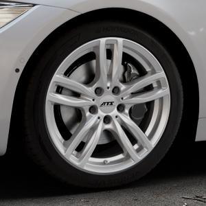 ATS Evolution polar-silber Felge mit Reifen in 18Zoll Winterfelge Alufelge auf silbernem BMW 418d Typ F36 (Gran Coupe) 420d xDrive 420i 428i 435i 430d 440i 418i 430i 425d ⬇️ mit 15mm Tieferlegung ⬇️ Industriehalle 1 Thumbnail