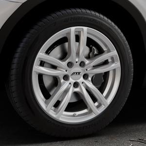 ATS Evolution polar-silber Felge mit Reifen in 18Zoll Winterfelge Alufelge auf silbernem BMW X3 Typ F25 (X3, X-N1) ⬇️ mit 15mm Tieferlegung ⬇️ Industriehalle 1 Thumbnail