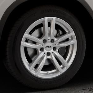 ATS Evolution polar-silber Felge mit Reifen in 18Zoll Winterfelge Alufelge auf silbernem BMW X3 Typ G01 (G3X) ⬇️ mit 15mm Tieferlegung ⬇️ Industriehalle 1 Thumbnail