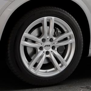 ATS Evolution polar-silber Felge mit Reifen in 18Zoll Winterfelge Alufelge auf silbernem BMW X4 Typ F26 (X3, X-N1) ⬇️ mit 15mm Tieferlegung ⬇️ Industriehalle 1 Thumbnail