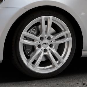 ATS Evolution polar-silber Felge mit Reifen in 18Zoll Winterfelge Alufelge auf silbernem Volkswagen (VW) Golf 7 ⬇️ mit 15mm Tieferlegung ⬇️ Industriehalle 1 Thumbnail