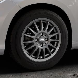 ATS Streetrallye dark-grey Felge mit Reifen grau in 15Zoll Winterfelge Alufelge auf silbernem Fiat Tipo II Limousine Typ 356 ⬇️ mit 15mm Tieferlegung ⬇️ Industriehalle 1 Thumbnail