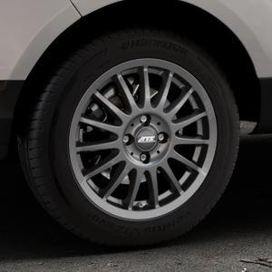 ATS Streetrallye dark-grey Felge mit Reifen grau in 16Zoll Winterfelge Alufelge auf silbernem Ford EcoSport Typ JK8 ⬇️ mit 15mm Tieferlegung ⬇️ Industriehalle 1 Thumbnail