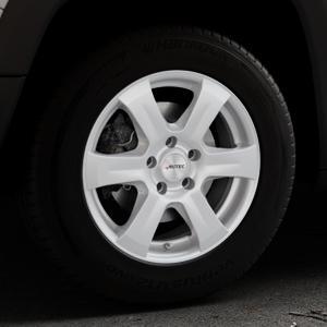 AUTEC Baltic Brillantsilber lackiert Felge mit Reifen in 16Zoll Winterfelge Alufelge auf silbernem Jeep Renegade Typ BU ⬇️ mit 15mm Tieferlegung ⬇️ Industriehalle 1 Thumbnail