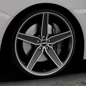 AUTEC Delano Schwarz matt poliert Felge mit Reifen mehrfarbig in 20Zoll Alufelge auf silbernem Subaru WRX Typ V1 2,5l STI AWD 221kW (300 PS) ⬇️ mit 15mm Tieferlegung ⬇️ Industriehalle 1 Thumbnail