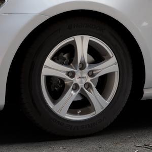AUTEC Ethos Brillantsilber lackiert Felge mit Reifen in 15Zoll Winterfelge Alufelge auf silbernem Volkswagen (VW) Golf 7 ⬇️ mit 15mm Tieferlegung ⬇️ Industriehalle 1 Thumbnail