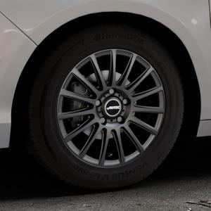 AUTEC Fanatic Schwarz matt Felge mit Reifen in 15Zoll Winterfelge Alufelge auf silbernem Citroen C4 Typ N ⬇️ mit 15mm Tieferlegung ⬇️ Industriehalle 1 Thumbnail