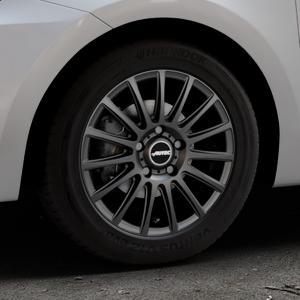 AUTEC Fanatic Schwarz matt Felge mit Reifen in 15Zoll Winterfelge Alufelge auf silbernem Suzuki Swift VI Typ AZ ⬇️ mit 15mm Tieferlegung ⬇️ Industriehalle 1 Thumbnail