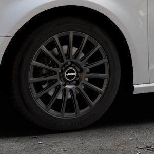 AUTEC Fanatic Schwarz matt Felge mit Reifen in 16Zoll Winterfelge Alufelge auf silbernem Audi A3 Typ 8V ⬇️ mit 15mm Tieferlegung ⬇️ Industriehalle 1 Thumbnail