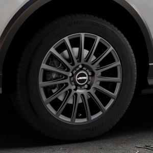 AUTEC Fanatic Schwarz matt Felge mit Reifen in 16Zoll Winterfelge Alufelge auf silbernem Audi Q2 Typ GA ⬇️ mit 15mm Tieferlegung ⬇️ Industriehalle 1 Thumbnail