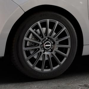 AUTEC Fanatic Schwarz matt Felge mit Reifen in 16Zoll Winterfelge Alufelge auf silbernem Citroen C3 Picasso ⬇️ mit 15mm Tieferlegung ⬇️ Industriehalle 1 Thumbnail