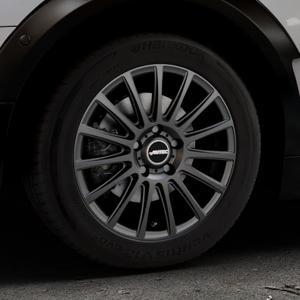 AUTEC Fanatic Schwarz matt Felge mit Reifen in 16Zoll Winterfelge Alufelge auf silbernem Mini F54 Typ UKL-L (Clubman) FMK ⬇️ mit 15mm Tieferlegung ⬇️ Industriehalle 1 Thumbnail
