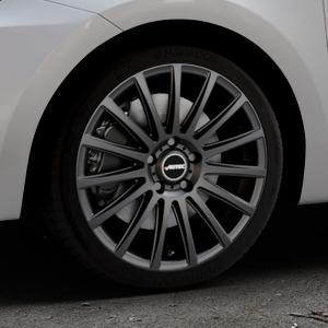 AUTEC Fanatic Schwarz matt Felge mit Reifen in 17Zoll Winterfelge Alufelge auf silbernem Suzuki Swift VI Typ AZ ⬇️ mit 15mm Tieferlegung ⬇️ Industriehalle 1 Thumbnail