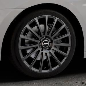 AUTEC Fanatic Schwarz matt Felge mit Reifen in 18Zoll Winterfelge Alufelge auf silbernem Hyundai i40 Typ VF Limousine Kombi Facelift ⬇️ mit 15mm Tieferlegung ⬇️ Industriehalle 1 Thumbnail