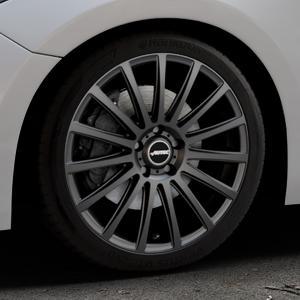 AUTEC Fanatic Schwarz matt Felge mit Reifen in 18Zoll Winterfelge Alufelge auf silbernem Mazda 3 (13-) Stufenheck (BM) Sport (17-) Facelift Fließheck ⬇️ mit 15mm Tieferlegung ⬇️ Industriehalle 1 Thumbnail