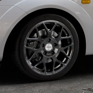 AUTEC Hexano Schwarz metallic Felge mit Reifen in 16Zoll Winterfelge Alufelge auf silbernem Ford Fiesta V Typ JH1/JD3 ⬇️ mit 15mm Tieferlegung ⬇️ Industriehalle 1 Thumbnail